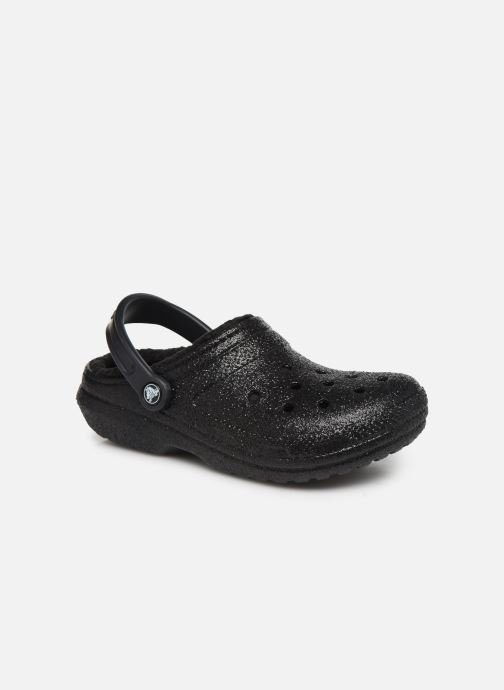 Mules & clogs Crocs Classic Glitter Lined Clog Black detailed view/ Pair view