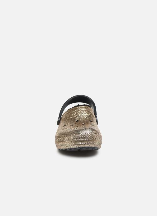 Wedges Crocs Classic Glitter Lined Clog Goud en brons model