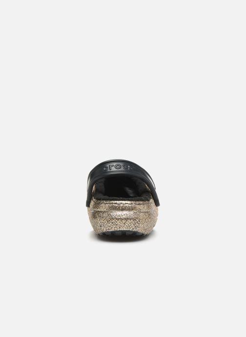 Mules et sabots Crocs Classic Glitter Lined Clog Or et bronze vue droite