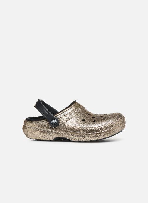 Mules et sabots Crocs Classic Glitter Lined Clog Or et bronze vue derrière