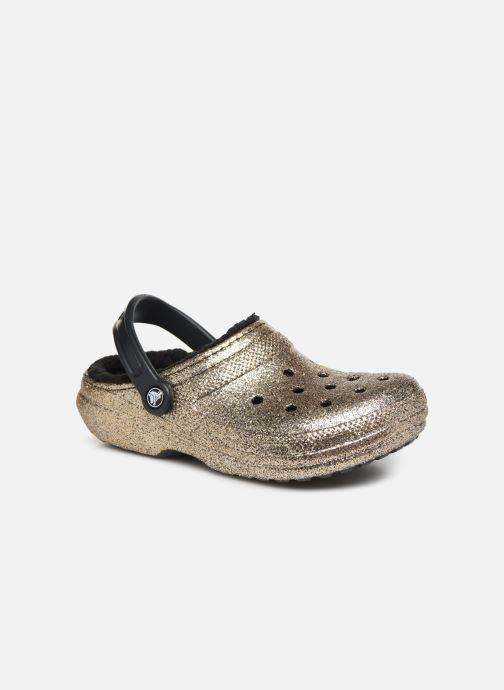 Mules et sabots Crocs Classic Glitter Lined Clog Or et bronze vue détail/paire