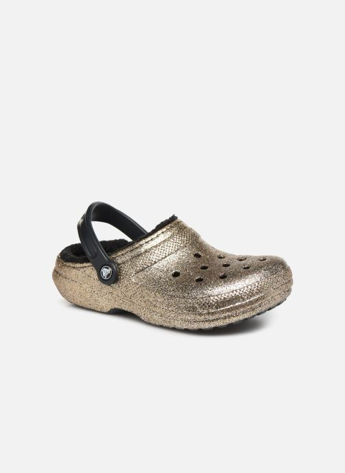 Wedges Crocs Classic Glitter Lined Clog Goud en brons detail