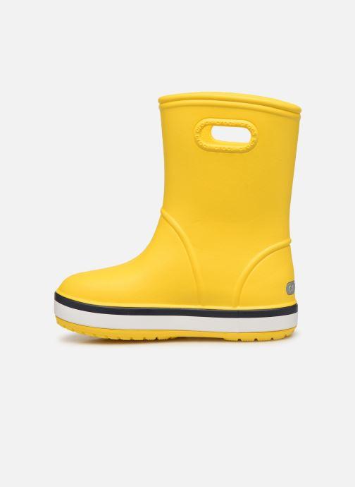 Bottes Crocs Crocband Rain Boot K Jaune vue face