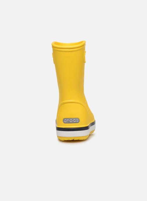 Bottes Crocs Crocband Rain Boot K Jaune vue droite