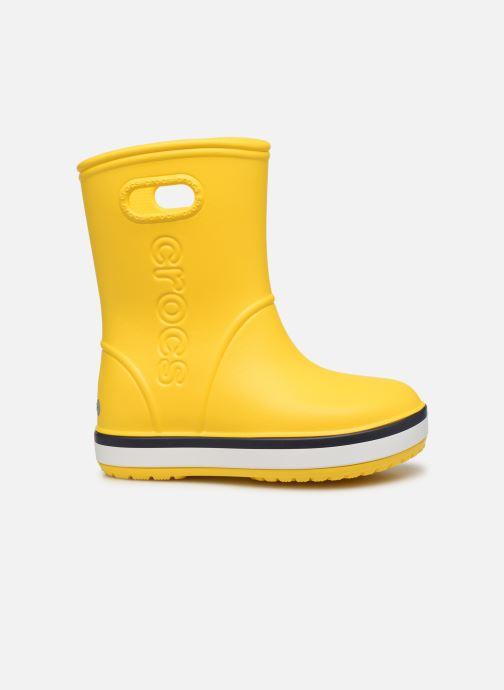 Boots & wellies Crocs Crocband Rain Boot K Yellow back view