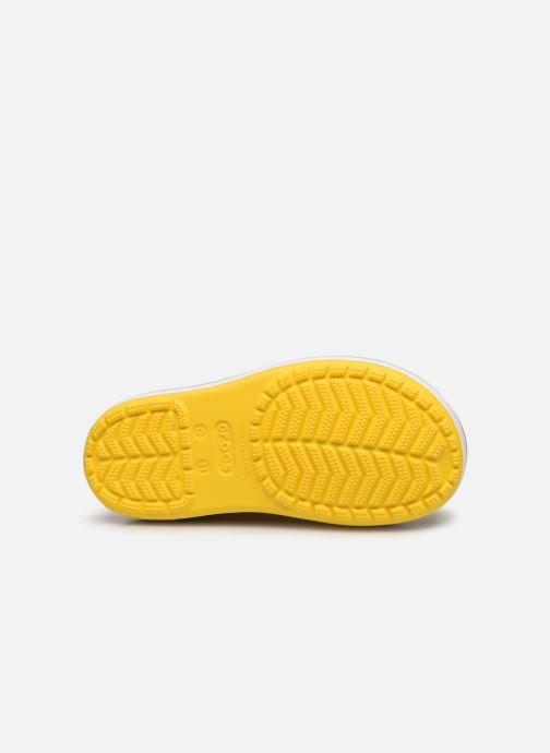 Bottes Crocs Crocband Rain Boot K Jaune vue haut