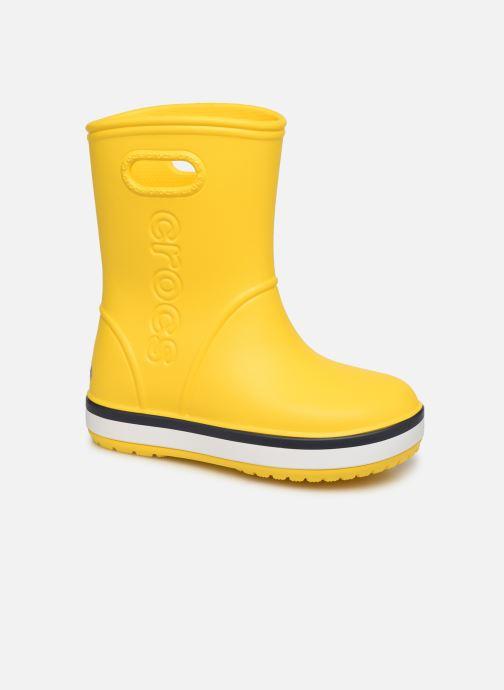 Bottes Crocs Crocband Rain Boot K Jaune vue détail/paire