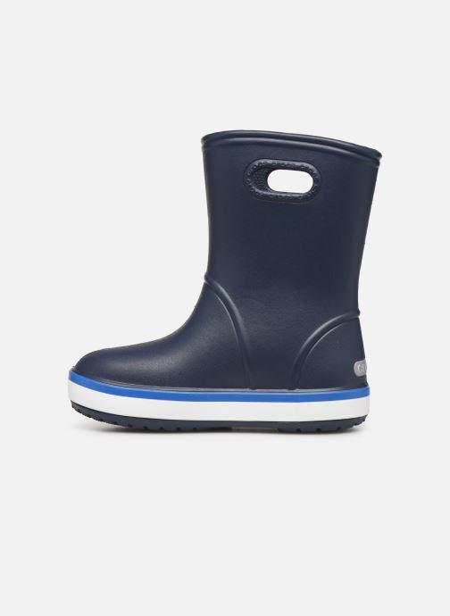 Stövlar & gummistövlar Crocs Crocband Rain Boot K Blå bild från framsidan