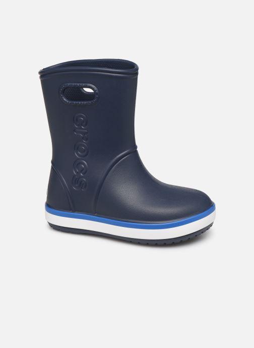 Stövlar & gummistövlar Crocs Crocband Rain Boot K Blå detaljerad bild på paret