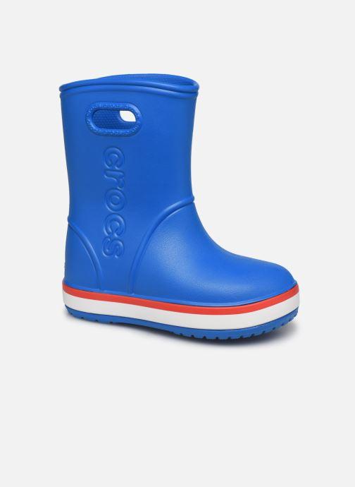 Bottes Crocs Crocband Rain Boot K Bleu vue détail/paire