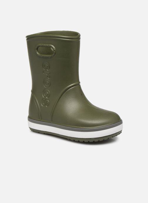 Bottes Crocs Crocband Rain Boot K Vert vue détail/paire