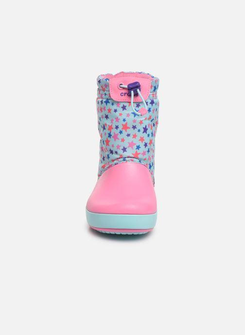 Chaussures de sport Crocs CB LodgePoint Graphic WntrBt K Bleu vue portées chaussures