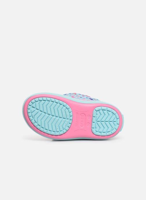 Chaussures de sport Crocs CB LodgePoint Graphic WntrBt K Bleu vue haut