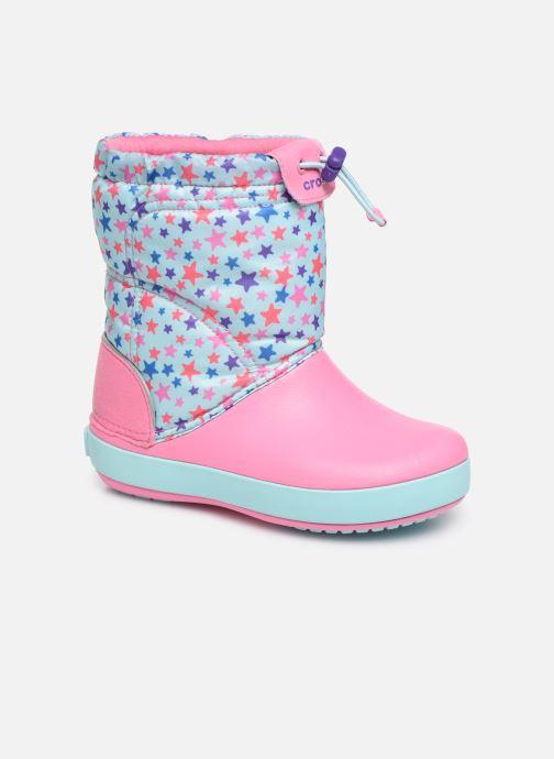 Chaussures de sport Crocs CB LodgePoint Graphic WntrBt K Bleu vue détail/paire