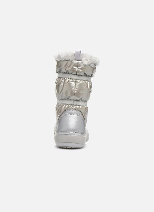 Chaussures de sport Crocs CB LodgePoint Metallic Boot G Argent vue droite