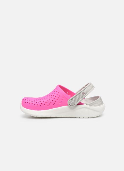 Sandalias Crocs LiteRide Clog K Rosa vista de frente