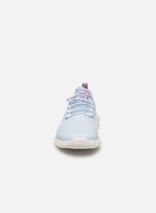 Sneaker Crocs LiteRide Pacer K blau schuhe getragen