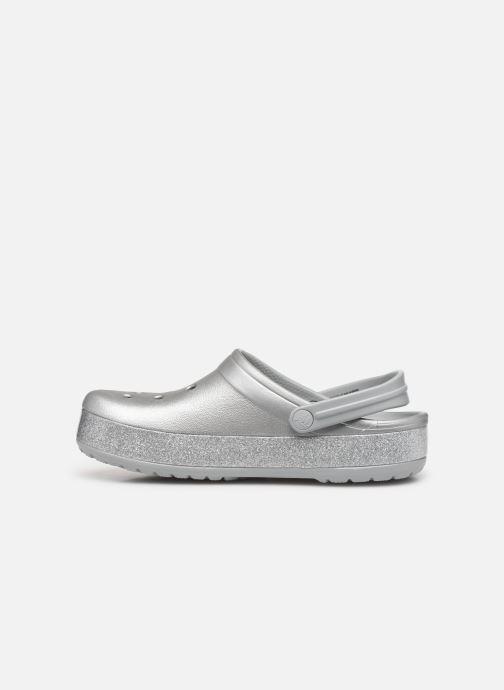 Clogs & Pantoletten Crocs Crocband Printed Clog grau ansicht von vorne