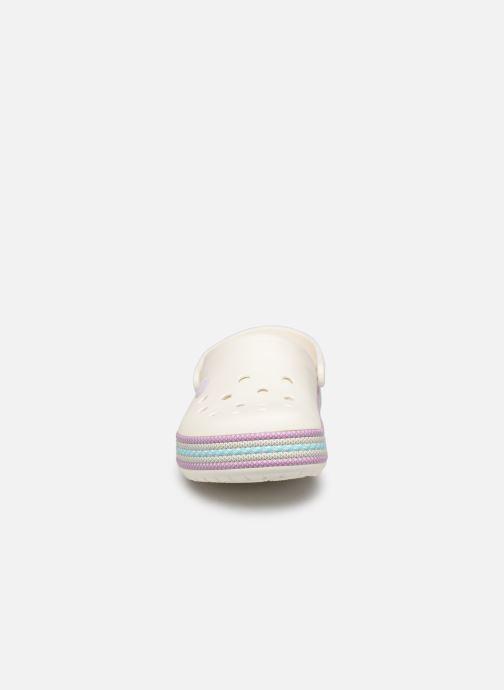 Mules et sabots Crocs Crocband Sport Cord Clog Blanc vue portées chaussures