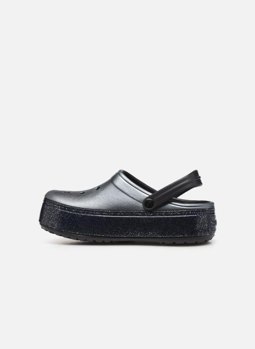 Clogs & Pantoletten Crocs Crocband Platform Metallic Clg schwarz ansicht von vorne