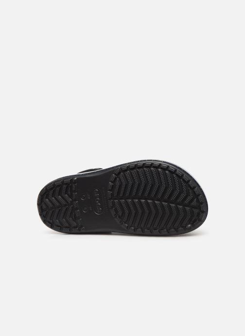 Zuecos Crocs Crocband Platform Metallic Clg Negro vista de arriba