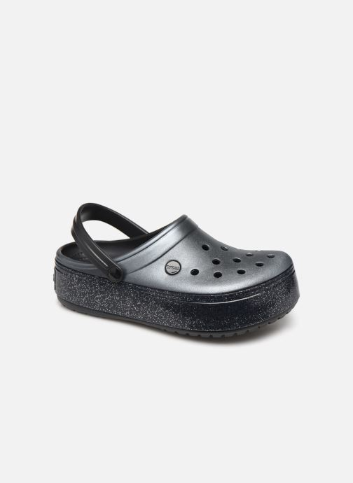 Zuecos Crocs Crocband Platform Metallic Clg Negro vista de detalle / par