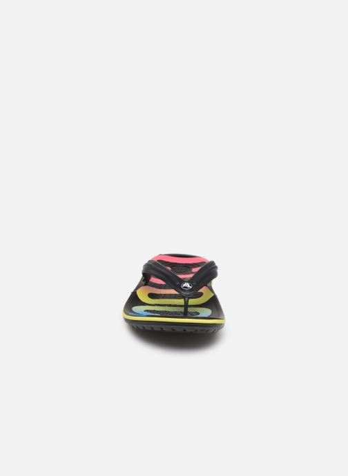 Tongs Crocs Crocband Printed Flip Noir vue portées chaussures