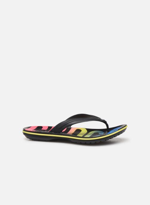 Tongs Crocs Crocband Printed Flip Noir vue derrière
