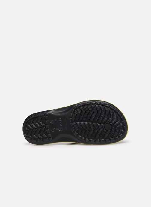 Chanclas Crocs Crocband Printed Flip Negro vista de arriba