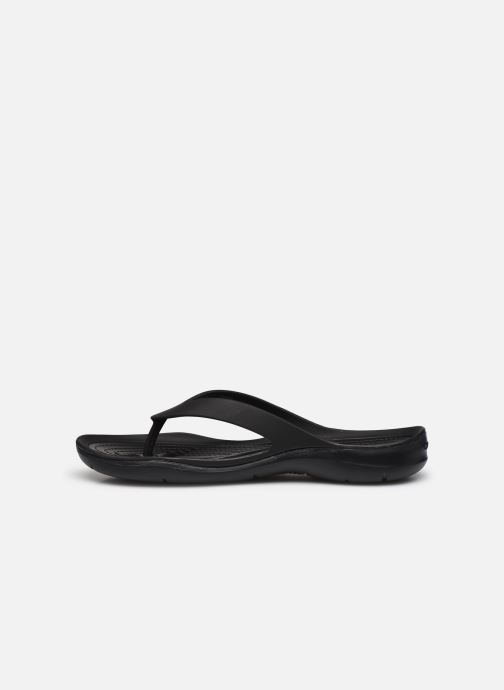 Chanclas Crocs Swiftwater Flip W Negro vista de frente