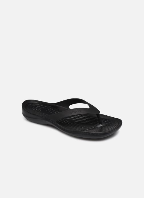 Chanclas Crocs Swiftwater Flip W Negro vista de detalle / par