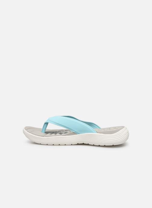 Zehensandalen Crocs Crocs Reviva Flip W blau ansicht von vorne