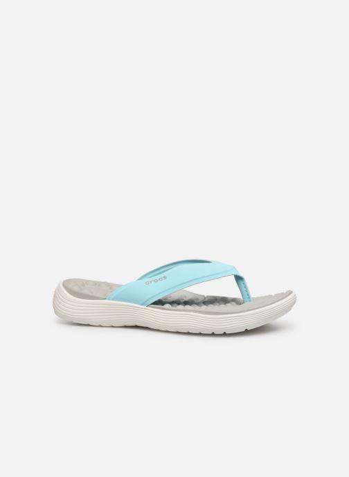 Zehensandalen Crocs Crocs Reviva Flip W blau ansicht von hinten