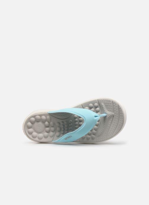 Zehensandalen Crocs Crocs Reviva Flip W blau ansicht von links