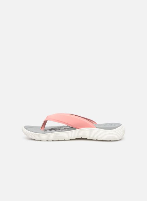 Tongs Crocs Crocs Reviva Flip W Rose vue face
