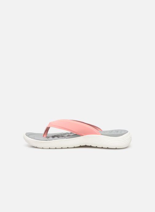 Zehensandalen Crocs Crocs Reviva Flip W rosa ansicht von vorne