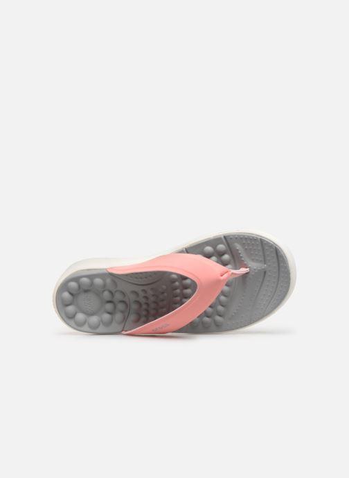 Zehensandalen Crocs Crocs Reviva Flip W rosa ansicht von links