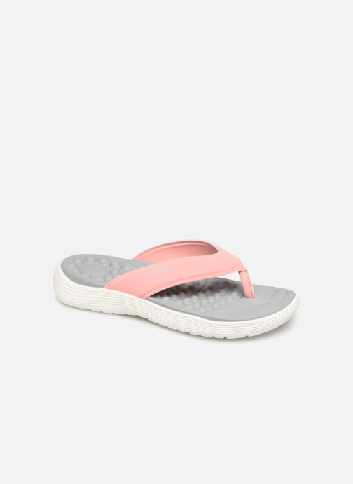 Tongs Crocs Crocs Reviva Flip W Rose vue détail/paire