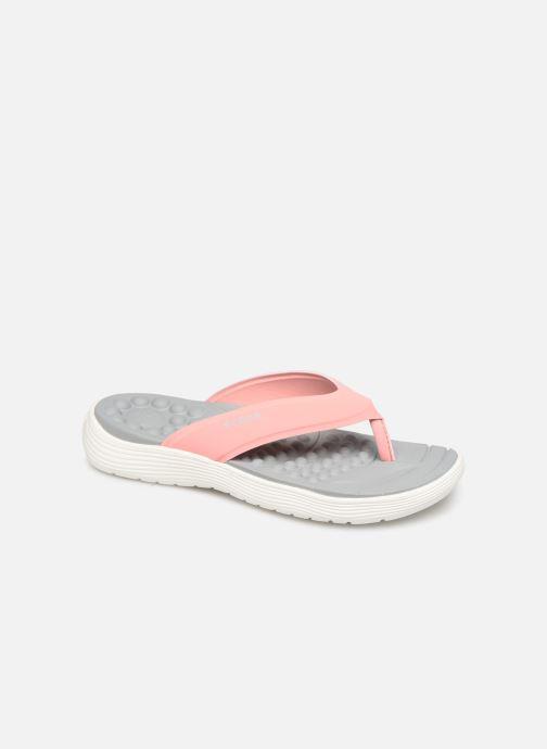 Tongs Crocs Crocs Reviva Flip W Rose vue détail/paire