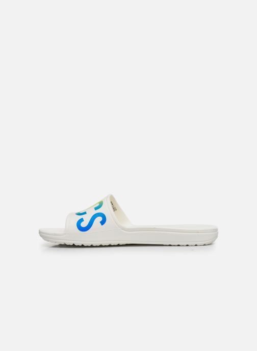 Zoccoli Crocs Crocs Sloane Logo Mania Slide W Bianco immagine frontale