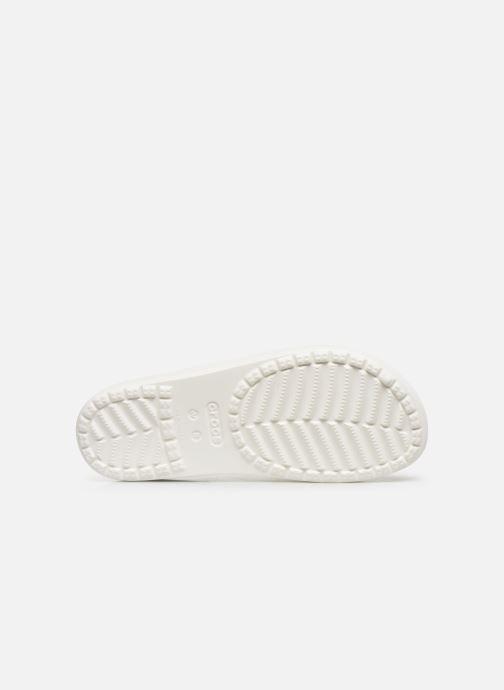 Mules et sabots Crocs Crocs Sloane Logo Mania Slide W Blanc vue haut