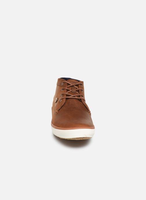 Baskets Faguo Wattle Leather C Marron vue portées chaussures