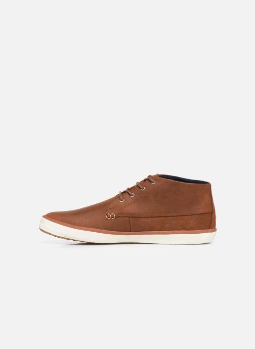 Baskets Faguo Wattle Leather C Marron vue face
