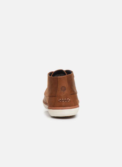 Baskets Faguo Wattle Leather C Marron vue droite