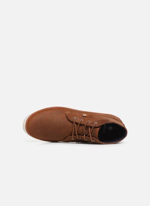Baskets Faguo Wattle Leather C Marron vue gauche