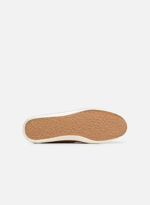 Baskets Faguo Wattle Leather C Marron vue haut
