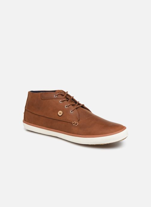 Baskets Faguo Wattle Leather C Marron vue détail/paire