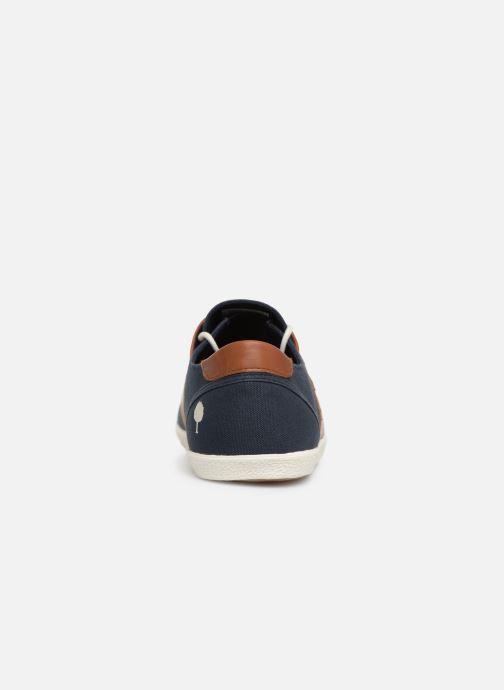 Baskets Faguo Cypress Cotton Leather Bleu vue droite