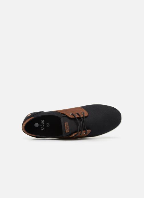Baskets Faguo Cypress Cotton Leather Noir vue gauche