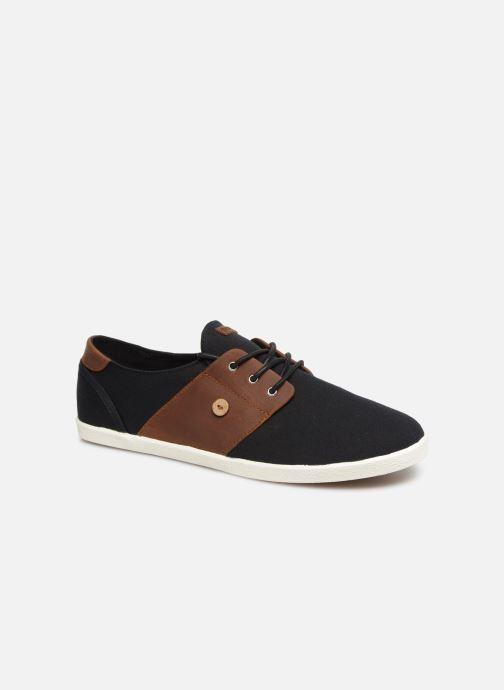 Baskets Faguo Cypress Cotton Leather Noir vue détail/paire
